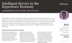 LEADING B2B SERVICE FOR HIGH-VALUE ACCOUNTS