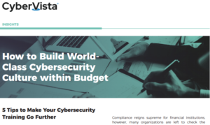 HOW TO BUILD WORLD- CLASS CYBERSECURITY CULTURE WITHIN BUDGET