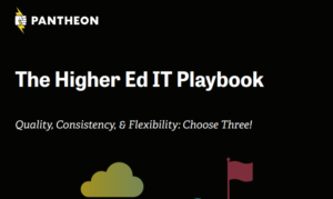 The Higher Ed IT Playbook