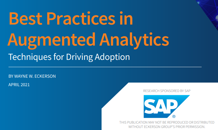 BEST PRACTICES IN AUGMENTED ANALYTICS: TECHNIQUES FOR DRIVING ADOPTION (EUROPE)