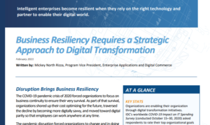 BUILD RESILIENCE THROUGH INTELLIGENCE